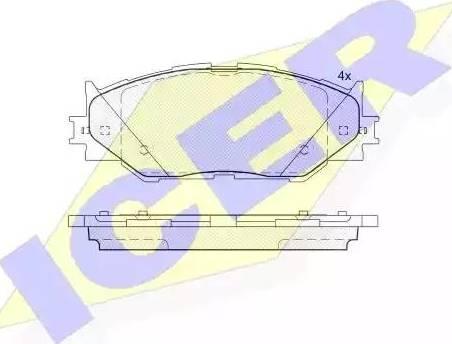 Icer 181750 - Тормозные колодки, дисковые sparts.com.ua