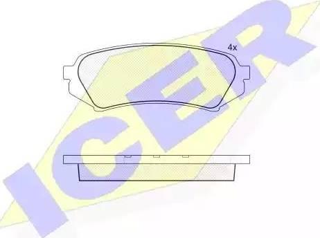 Icer 181734 - Тормозные колодки, дисковые sparts.com.ua