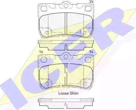 Icer 182060 - Тормозные колодки, дисковые sparts.com.ua