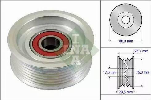 INA 532 0587 10 - Паразитный / ведущий ролик, поликлиновый ремень sparts.com.ua