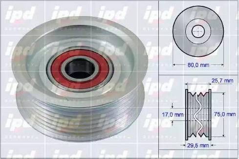 IPD 15-3904 - Паразитный / ведущий ролик, поликлиновый ремень sparts.com.ua