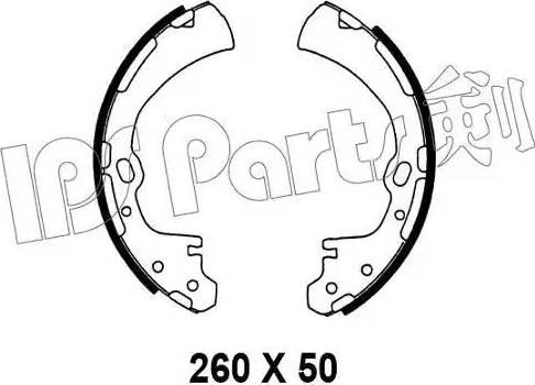 IPS Parts IBL-4138 - Тормозные башмаки, барабанные sparts.com.ua