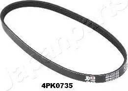 Japanparts DV-4PK0735 - Поликлиновые ремни (продолные рёбра) sparts.com.ua