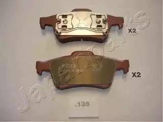Japanparts PP-138AF - Тормозные колодки, дисковые sparts.com.ua