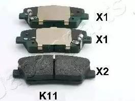 Japanparts PP-K11AF - Тормозные колодки, дисковые sparts.com.ua