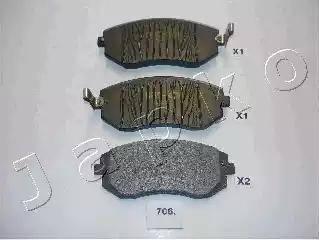 Japko 50706 - Тормозные колодки, дисковые sparts.com.ua