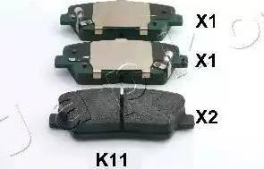 Japko 51K11 - Тормозные колодки, дисковые sparts.com.ua