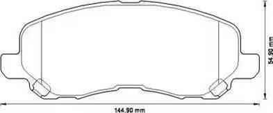 BOSCH 0 986 424 716 - Тормозные колодки, дисковые sparts.com.ua