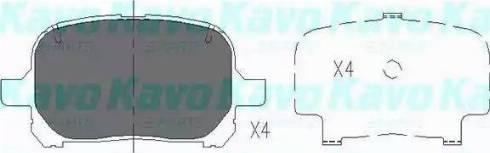 Kavo Parts KBP-9051 - Тормозные колодки, дисковые sparts.com.ua