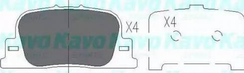 Kavo Parts KBP-9069 - Тормозные колодки, дисковые sparts.com.ua