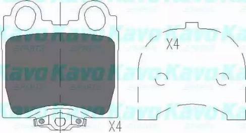 Kavo Parts KBP-9066 - Тормозные колодки, дисковые sparts.com.ua