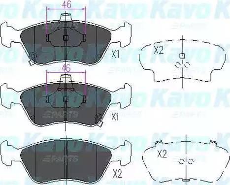 Kavo Parts KBP-9006 - Тормозные колодки, дисковые sparts.com.ua