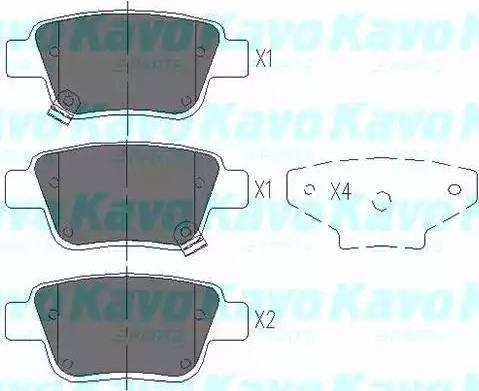 Kavo Parts KBP-9019 - Тормозные колодки, дисковые sparts.com.ua