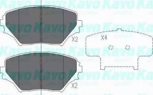 Kavo Parts KBP-9011 - Тормозные колодки, дисковые sparts.com.ua