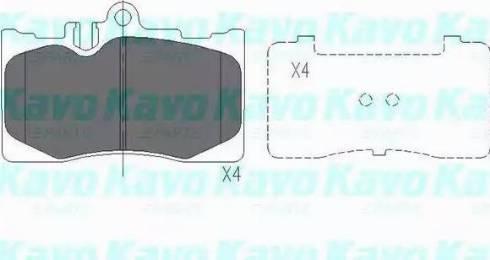 Kavo Parts KBP-9071 - Тормозные колодки, дисковые sparts.com.ua
