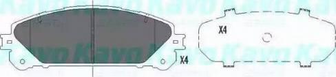 Kavo Parts KBP-9116 - Тормозные колодки, дисковые sparts.com.ua
