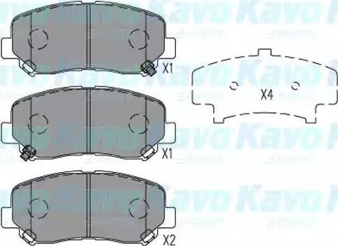 Kavo Parts KBP-4563 - Тормозные колодки, дисковые sparts.com.ua