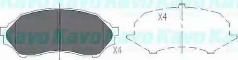 Kavo Parts KBP-4505 - Тормозные колодки, дисковые sparts.com.ua