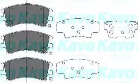 Kavo Parts KBP-4512 - Тормозные колодки, дисковые sparts.com.ua