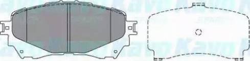 Kavo Parts KBP-4570 - Тормозные колодки, дисковые sparts.com.ua