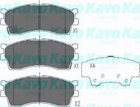 Kavo Parts KBP-4002 - Тормозные колодки, дисковые sparts.com.ua