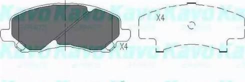 Kavo Parts KBP-5516 - Тормозные колодки, дисковые sparts.com.ua