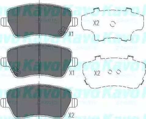 Kavo Parts KBP-8522 - Тормозные колодки, дисковые sparts.com.ua