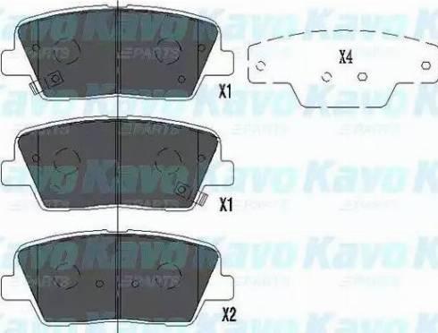 Kavo Parts KBP-3034 - Тормозные колодки, дисковые sparts.com.ua