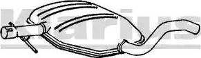 Klarius 220525 - Средний глушитель выхлопных газов sparts.com.ua
