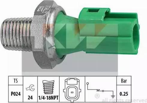 KW 500146 - Датчик давления масла sparts.com.ua