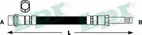 LPR 6T47366 - Тормозной шланг sparts.com.ua
