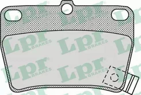 LPR 05P997 - Тормозные колодки, дисковые sparts.com.ua