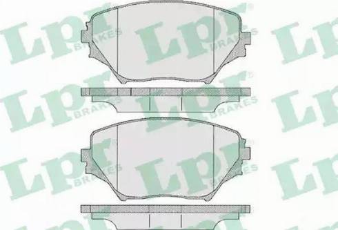 LPR 05P958 - Тормозные колодки, дисковые sparts.com.ua