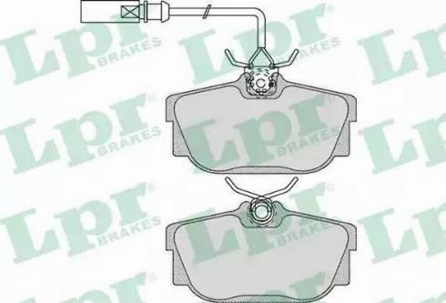 LPR 05P974 - Тормозные колодки, дисковые sparts.com.ua