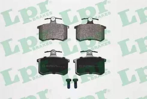 LPR 05P440 - Тормозные колодки, дисковые sparts.com.ua