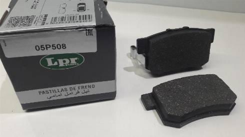 LPR 05P508 - Тормозные колодки, дисковые sparts.com.ua