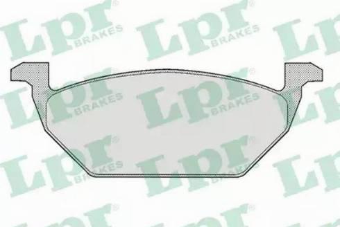 LPR 05P668 - Тормозные колодки, дисковые sparts.com.ua