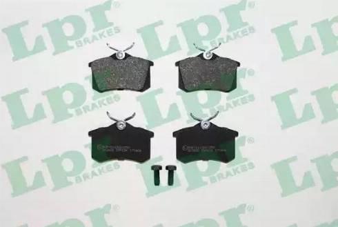 LPR 05P634 - Тормозные колодки, дисковые sparts.com.ua