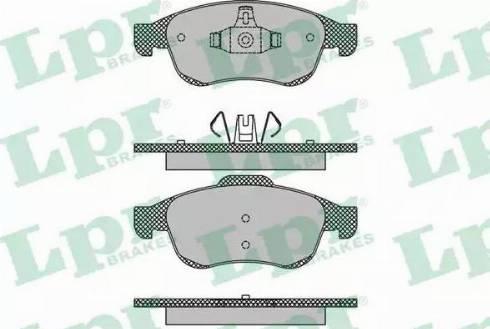 LPR 05P1493 - Тормозные колодки, дисковые sparts.com.ua