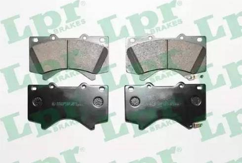 LPR 05P1418 - Тормозные колодки, дисковые sparts.com.ua