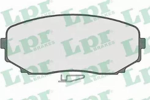 LPR 05P1573 - Тормозные колодки, дисковые sparts.com.ua