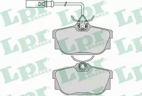 LPR 05P1699 - Тормозные колодки, дисковые sparts.com.ua