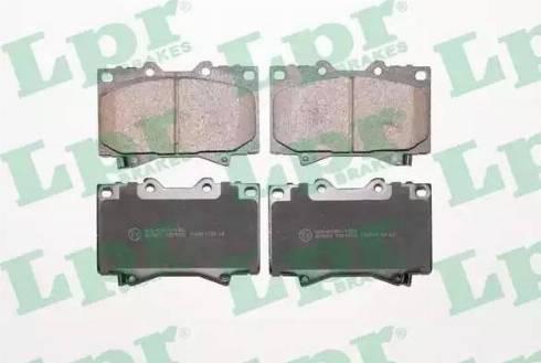 LPR 05P1050 - Тормозные колодки, дисковые sparts.com.ua
