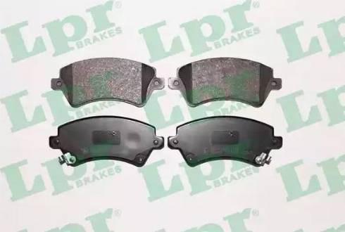 LPR 05P1002 - Тормозные колодки, дисковые sparts.com.ua