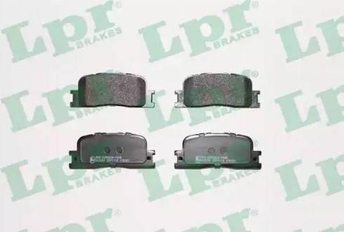 LPR 05P1115 - Тормозные колодки, дисковые sparts.com.ua