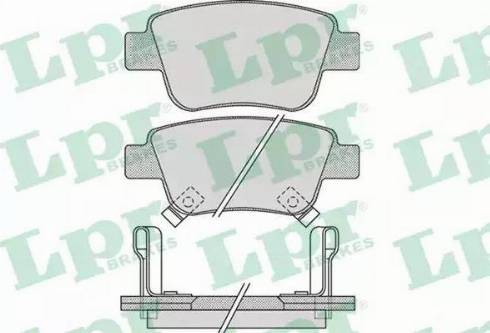 LPR 05P1113 - Тормозные колодки, дисковые sparts.com.ua