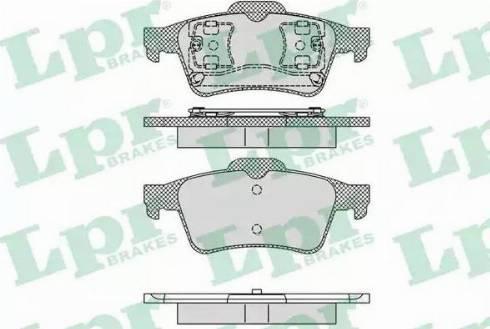 LPR 05P1189 - Тормозные колодки, дисковые sparts.com.ua