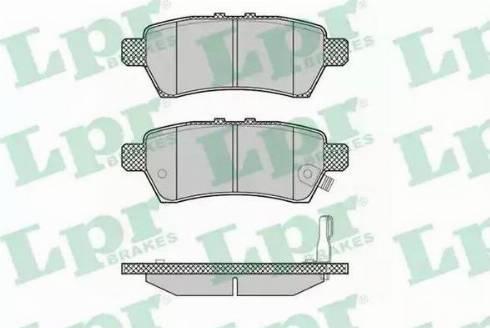 LPR 05P1377 - Тормозные колодки, дисковые sparts.com.ua