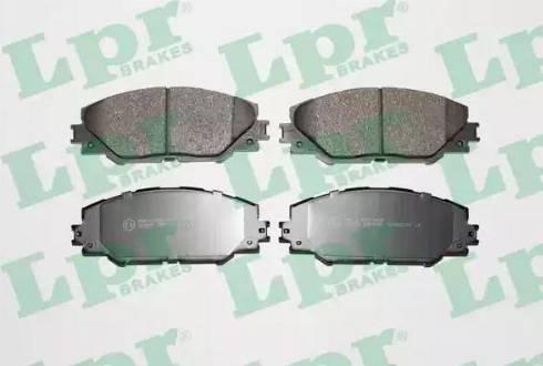 LPR 05P1282 - Тормозные колодки, дисковые sparts.com.ua