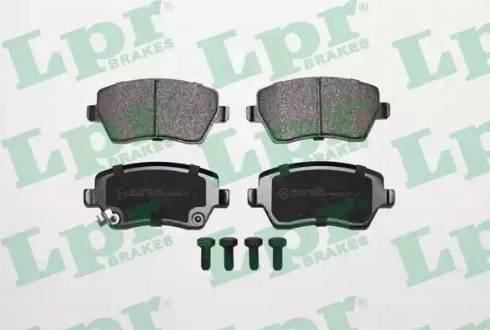 LPR 05P1229 - Тормозные колодки, дисковые sparts.com.ua